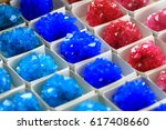 Small photo of vitriol mineral collection as nice chemistry background