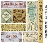 vintage style label | Shutterstock .eps vector #61741156