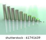 3d business statistics | Shutterstock . vector #61741639