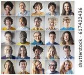 happy people | Shutterstock . vector #617422436