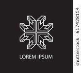 geometric logo. line design.... | Shutterstock .eps vector #617428154