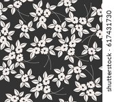 seamless pattern with elegant... | Shutterstock .eps vector #617431730