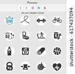 fitness web icons for user... | Shutterstock .eps vector #617437094