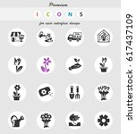 flowers web icons for user... | Shutterstock .eps vector #617437109