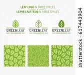 green leaf set consisting of...   Shutterstock .eps vector #617443904