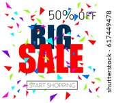 super discount  sale ... | Shutterstock .eps vector #617449478