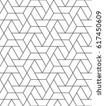 seamless geometric pattern.... | Shutterstock .eps vector #617450609