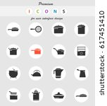 dishes vector icons for user... | Shutterstock .eps vector #617451410