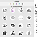e commerce interface web icons... | Shutterstock .eps vector #617451473