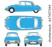 blue car vector template on... | Shutterstock .eps vector #617457344