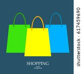 shopping  sale   paper bag ... | Shutterstock .eps vector #617459690
