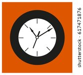 black old style clock at the...   Shutterstock .eps vector #617471876
