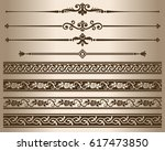 decorative elements. design... | Shutterstock .eps vector #617473850