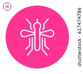 mosquito insect line vector icon | Shutterstock .eps vector #617474786