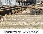 detail of an old rail track in... | Shutterstock . vector #617476559