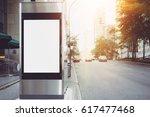 Blank Vertical Lightbox On The...