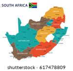 South Africa Map And Flag  ...