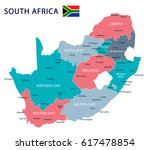 south africa map and flag  ... | Shutterstock .eps vector #617478854