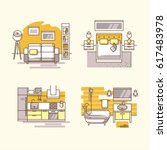 apartment inside. detailed... | Shutterstock .eps vector #617483978