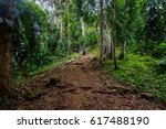 hiking tour to the lost city in ... | Shutterstock . vector #617488190
