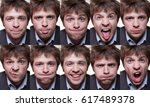 a series of emotional portraits ... | Shutterstock . vector #617489378