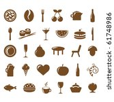 collection restaurant icons ... | Shutterstock .eps vector #61748986