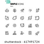 space icons. | Shutterstock .eps vector #617491724