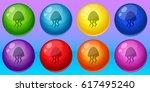 sea bubble shooter match 3 game ... | Shutterstock .eps vector #617495240