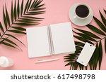 overhead business composition...   Shutterstock . vector #617498798