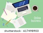 flat vector banner for internet ... | Shutterstock .eps vector #617498903