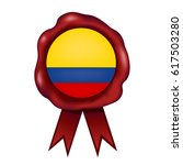 colombian wax seal | Shutterstock .eps vector #617503280