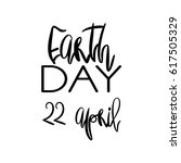earth day concept   decorative... | Shutterstock . vector #617505329