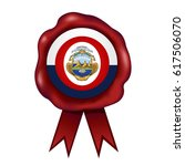 costa rica wax seal | Shutterstock .eps vector #617506070