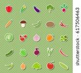 set of different vegetables...   Shutterstock .eps vector #617506463