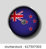 vector illustration flag on a... | Shutterstock .eps vector #617507303