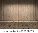 room with wood wall and wood... | Shutterstock . vector #617508899