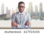portrait of young black... | Shutterstock . vector #617514143
