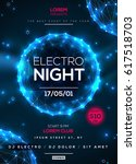 electro night dance party... | Shutterstock .eps vector #617518703