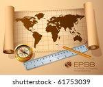 Vintage  Map  Golden Compass...