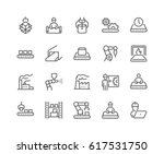 simple set of mass production... | Shutterstock .eps vector #617531750