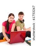 friends are doing homework ... | Shutterstock . vector #61753267