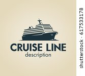 space negative cruise ship logo. | Shutterstock .eps vector #617533178