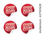 best sale sticker set  vector | Shutterstock .eps vector #617545628