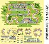 sport race track curve road... | Shutterstock .eps vector #617564324