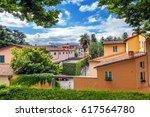 ancient italian town of lucca....   Shutterstock . vector #617564780