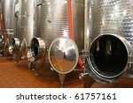 Industrial cistern for wine storage - stock photo