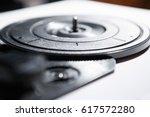 vintage electronic vinyl... | Shutterstock . vector #617572280