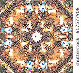 mosaic colorful pattern for... | Shutterstock . vector #617577908