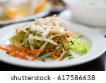 exotic vietnamese food... | Shutterstock . vector #617586638