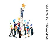 business success isometric   Shutterstock .eps vector #617601446